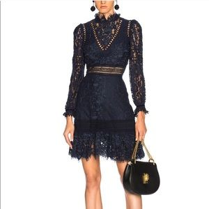 Sea New York lace dress in navy color